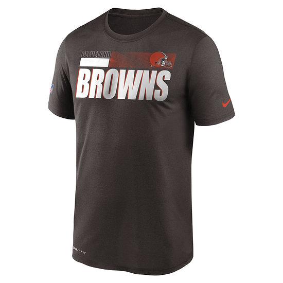 Nike Cleveland Browns T-Shirt Team Name Sideline braun