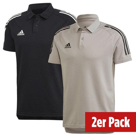 Adidas 2er Set Poloshirt Condivo 20 Schwarz/Grau