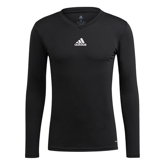 Adidas Trainingsshirt Langarm Team Base Schwarz