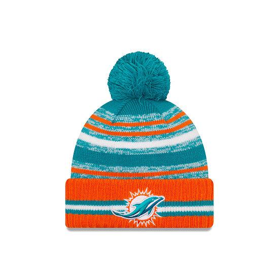 New Era Miami Dolphins Beanie Sport Knit Cold Weather türkis
