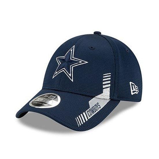 New Era Dallas Cowboys Cap Sideline Heim 9FORTY blau