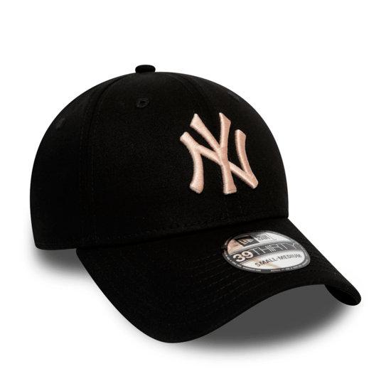 New Era New York Yankees Cap League Essential 39THIRTY schwarz