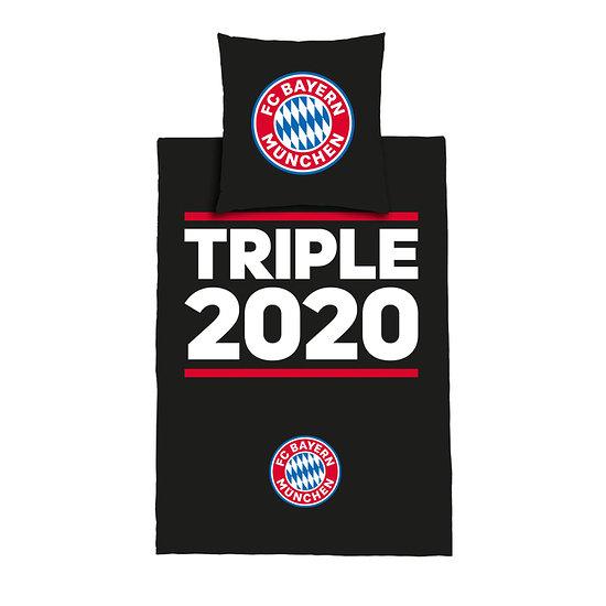 FC Bayern München Bettwäsche Triple 2020 Schwarz