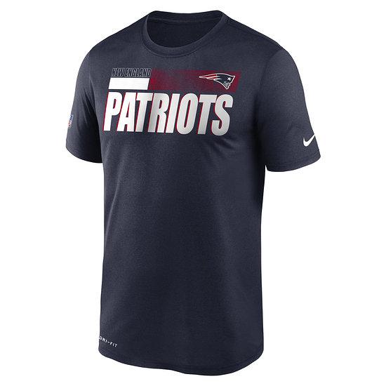 Nike New England Patriots T-Shirt Team Name Sideline navy