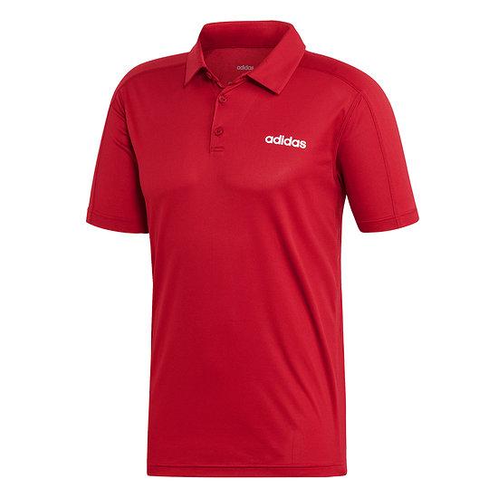 Adidas Poloshirt D2M CCool Rot