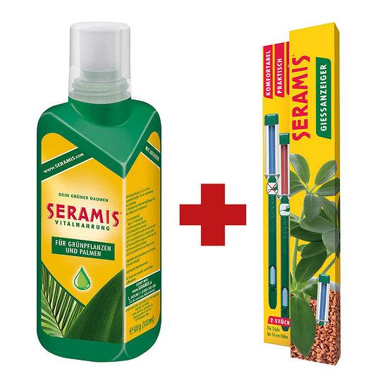 Seramis Vitalnahrung Grünpflanzen & Palmen inkl. 2 Gießanzeiger