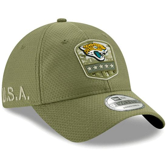 New Era Jacksonville Jaguars Cap Salute To Service 9TWENTY oliv