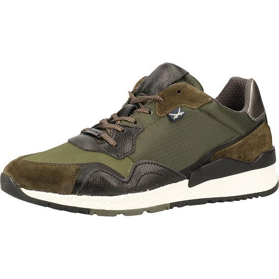 Sansibar Sneaker Leder/Textil oliv
