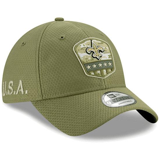 New Era New Orleans Saints Cap Salute To Service 9TWENTY oliv
