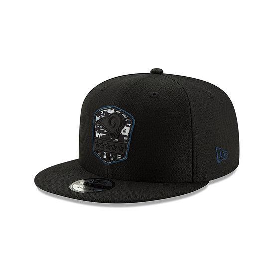 New Era Los Angeles Rams Cap Salute To Service 9FIFTY schwarz