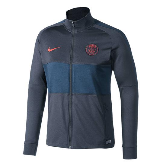 Nike Paris Saint-Germain Trainingsjacke Balken Grau