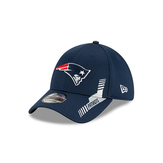 New Era New England Patriots Cap Sideline Heim 39THIRTY blau
