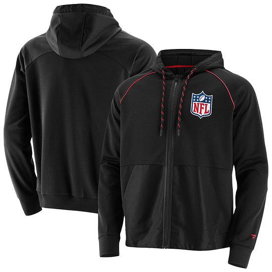 Fanatics NFL Shield Kapuzenjacke Prime schwarz