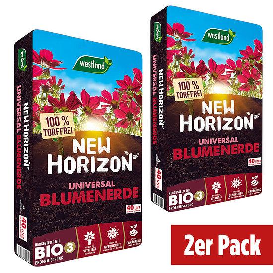Westland New Horizon torffr. Blumenerde im Doppelpack=80 Liter