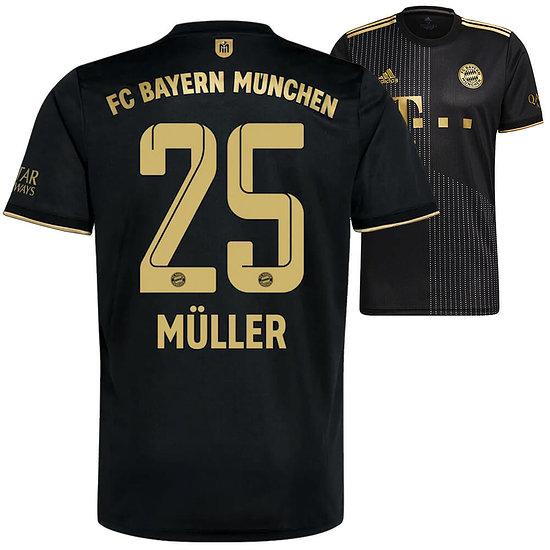 Adidas FC Bayern München Auswärts Trikot MÜLLER 2021/2022
