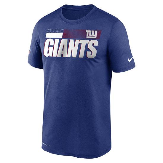 Nike New York Giants T-Shirt Team Name Sideline blau