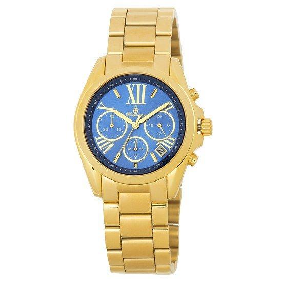 Burgmeister Damen Chronograph Carolina gold/blau