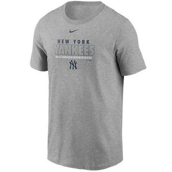 Nike New York Yankees T-Shirt Color Bar grau