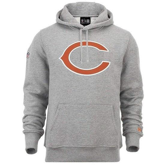 New Era Chicago Bears Hoodie Team Logo grau