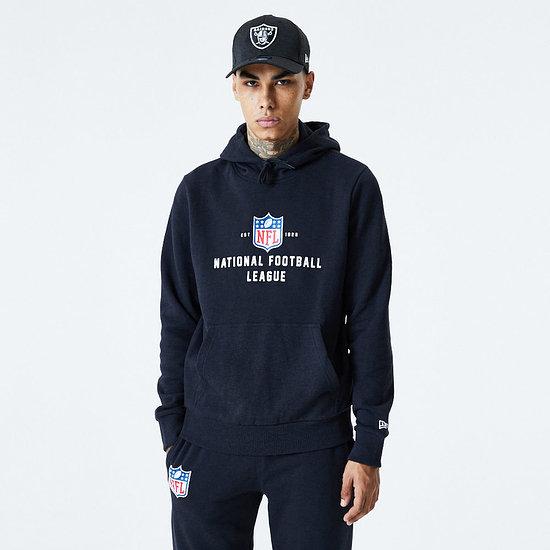 New Era NFL Shield Hoodie Established schwarz