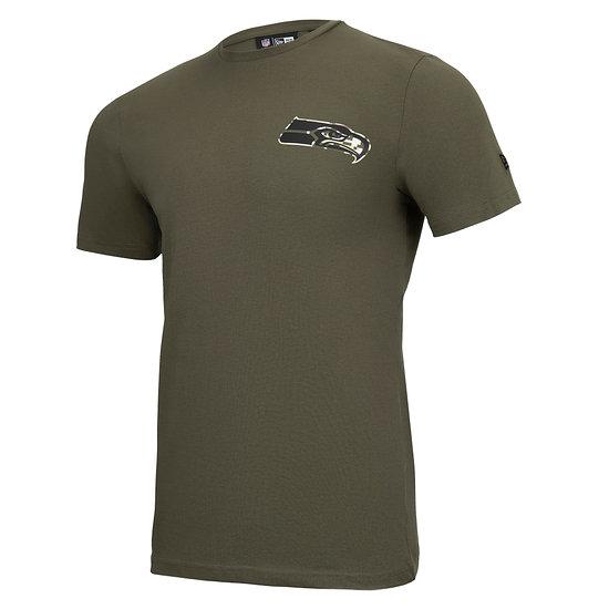 New Era Seattle Seahawks T-Shirt Camo Injection grün