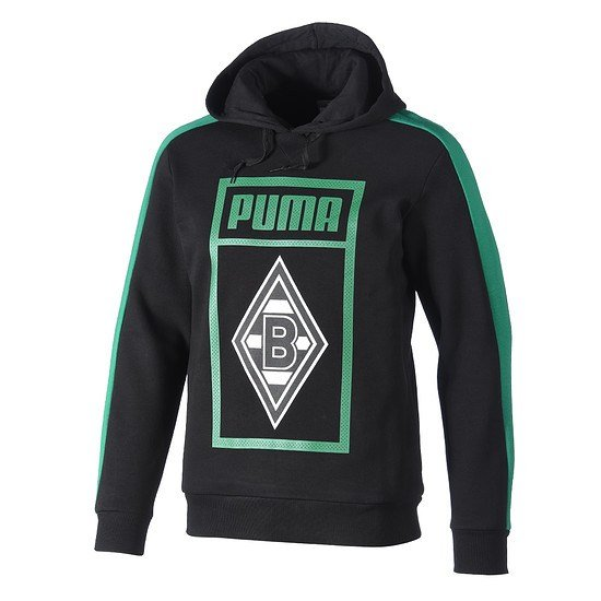 Puma Borussia Mönchengladbach Hoodie Shoe Tag schwarz