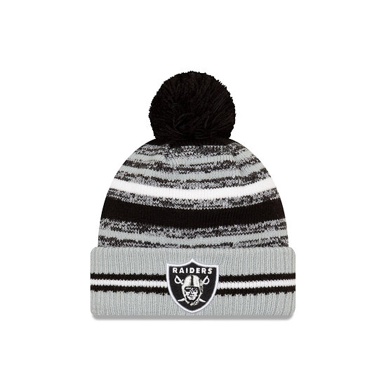 New Era Las Vegas Raiders Beanie Sport Knit Cold Weather schwarz