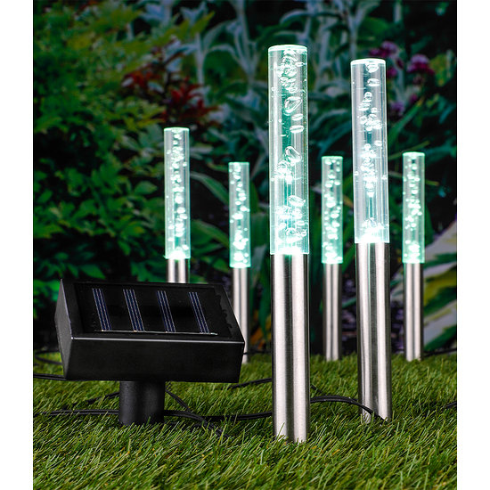 Garten-Welt LED Solar Lampenset Bubbles, 6er Set