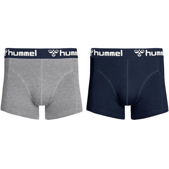 hummel Boxershorts HMLMARS 2er Pack grau/dunkelblau