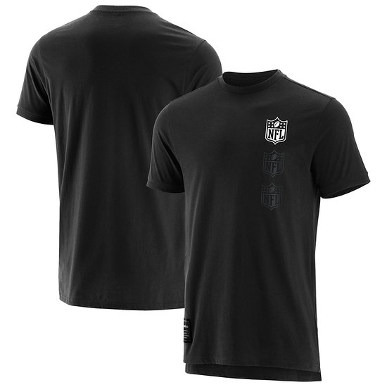 Fanatics NFL Shield T-Shirt Mono schwarz