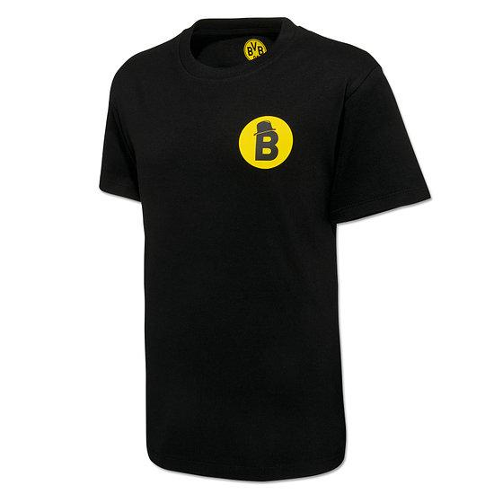 Borussia Dortmund T-Shirt BORUSSIA verbindet Kinder Schwarz