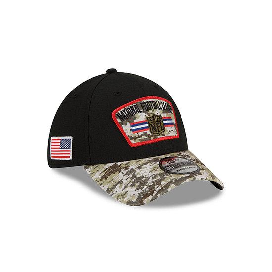 New Era NFL Shield Cap Salute To Service 39THIRTY 2021 schwarz