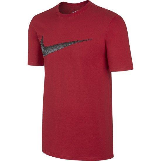 Nike Swoosh T-Shirt rot/grau
