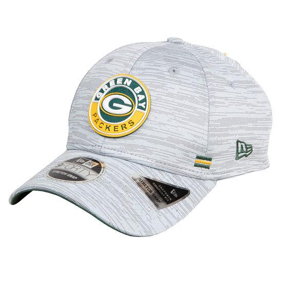 New Era Green Bay Packers Cap Road 9FORTY Sideline grau meliert
