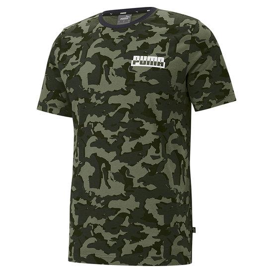 Puma T-Shirt CORE CAMO Oliv