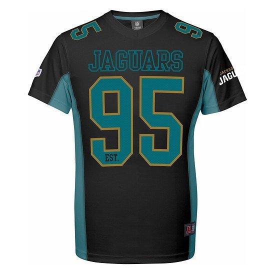 Majestic Athletic Jacksonville Jaguars T-Shirt Moro Poly Mesh schwarz/blau