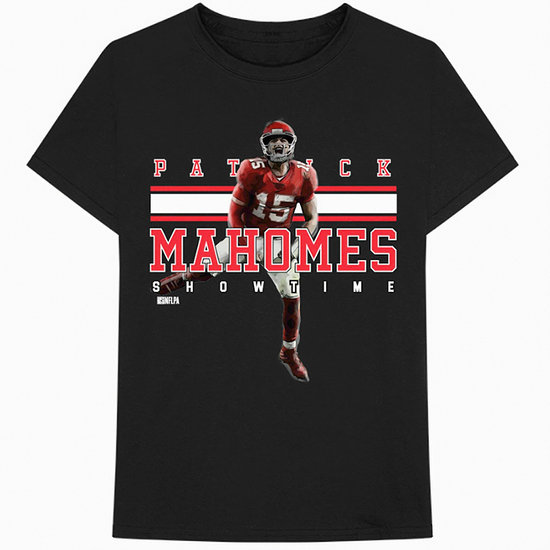 Bravado NFLPA Patrick Mahomes T-Shirt Showtime schwarz