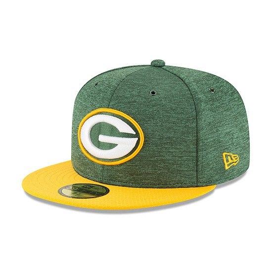New Era Green Bay Packers Cap 59FIFTY Sideline Home grün/gelb