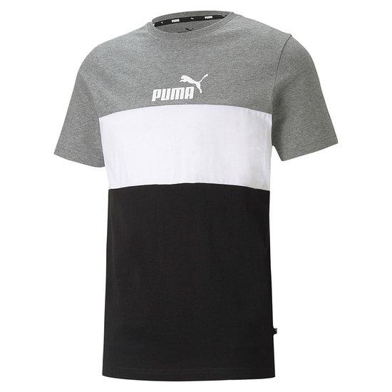 Puma T-Shirt ESS BLOCK Grau