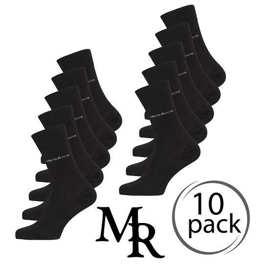 Mario Russo Socken Bambus 10er Pack (Gr. 41-46) schwarz