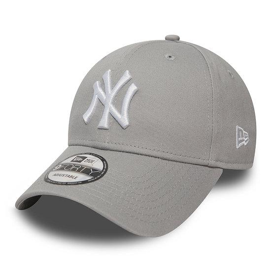 New Era New York Yankees Cap League Essential 9FORTY grau/weiß