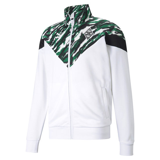 Puma Borussia Mönchengladbach Track Jacket GRAFFITI weiß/grün