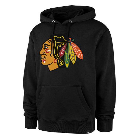 47 Brand Chicago Blackhawks Hoodie Imprint Burnside schwarz