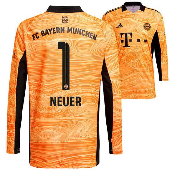 Adidas FC Bayern München Torwart Trikot NEUER 2021/2022 Kinder