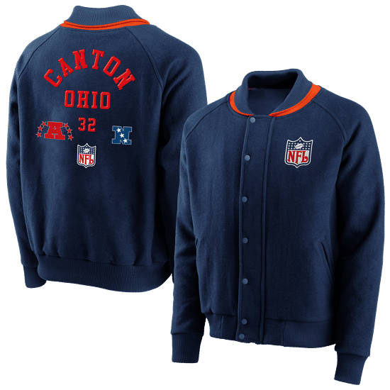Fanatics NFL Shield Jacke True Classics Letterman navy