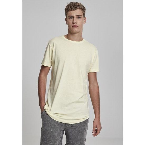 URBAN CLASSICS T-Shirt Shaped Long hellgelb