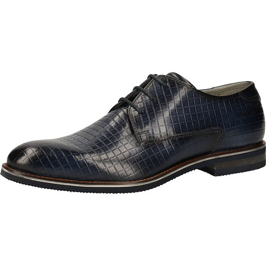 Bugatti Business Schuhe Glattleder blue