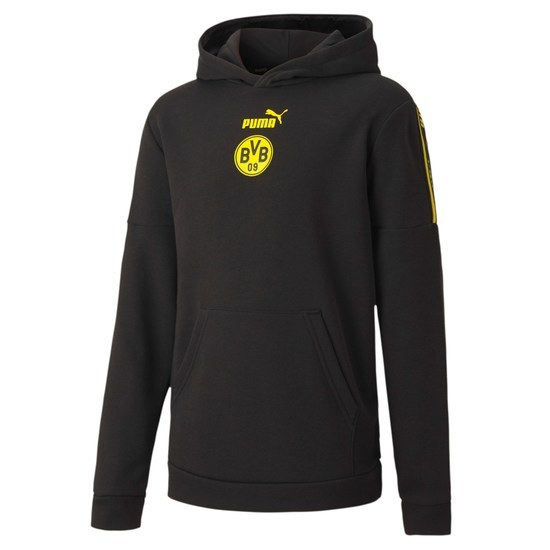 Puma Borussia Dortmund Hoodie CULTURE 2020/2021 Kinder Schwarz