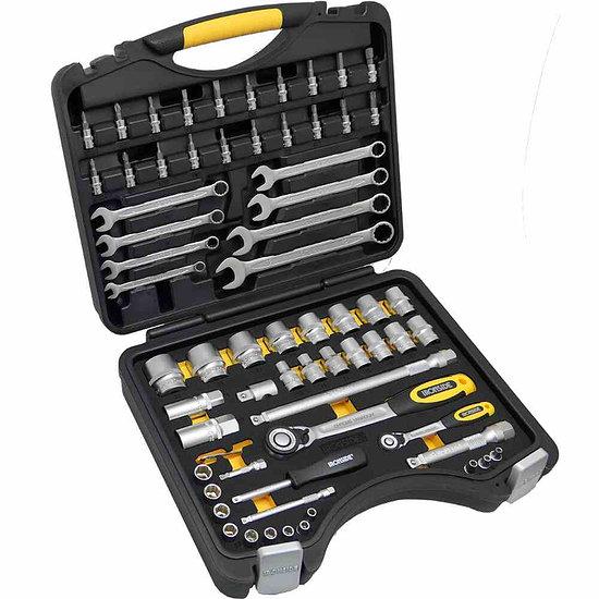 Ironside Profi Steckschlüssel Set 68tlg. 6,35 mm schwarz