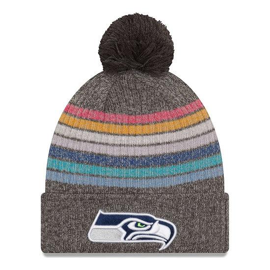New Era Seattle Seahawks Beanie Crucial Catch Knit Damen bunt/grau